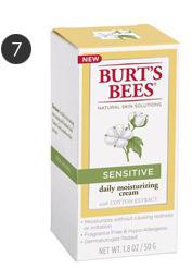 Burt's Bees sensitive skin moisturizer with cotton extract