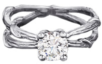 Karen Karch Double Vine Solitaire Ring