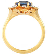 McTeigue & McClelland Blue Sapphire Flora Bouquet Ring