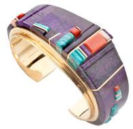 Charles Loloma Gold Inlaid Bracelet