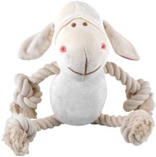Bamboo Plush White Lamb Rope Toy