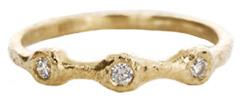 Yasuko Azuma Three-Diamond Ring