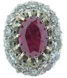 Nadine Krakov Diamond & Ruby Ring