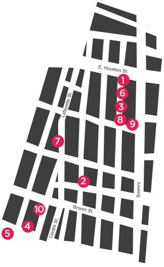Map of the NoLIta neighborhood