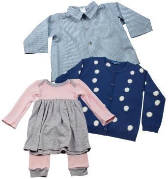 Makie Collared Shirt, Simple Kids Nana Cardigan, Baby CZ Crochet Cardigan.