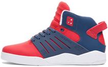 Supra Men Skytop Iii Red Lux Suede/navy Sneakers