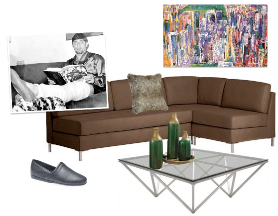 A collection of Joe Namath Style Bachelor Pad Decorations and Furniture