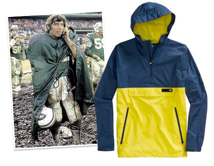 A collection of Joe Namath Style Rain Delay Clothing