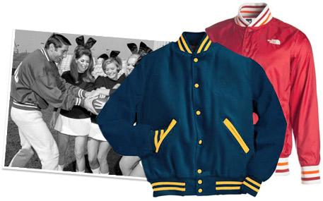 A collection of Joe Namath Style Varsity Jackets