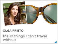 Olga Prieto's top 10 items to travel with
