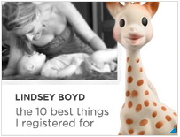 Lindsey Boyd - The 10 best things I registered for