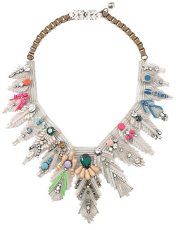 Shourouk Feather Bib Necklace