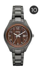 Fossil 'Flight' Round Dial Bracelet Watch