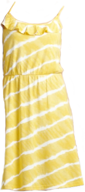 Yellow and White LOFT Sundress