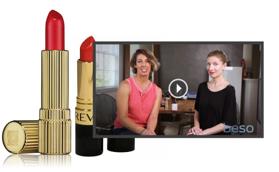 90 SECOND FACE: HOW TO APPLY RED LIPSTICK
