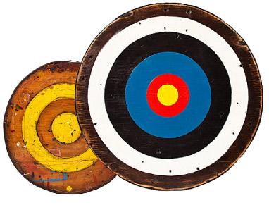 Jason Koharik 'Target' Painting