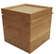 Commune White Oak & Brass Crates
