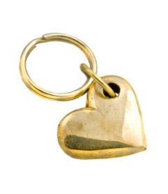 Carl Aubock Heart Key Ring