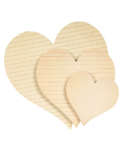 Paper Source Heart Sticky Notepads