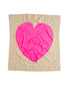 J. Crew Cashmere Baby Blanket in Heart Me