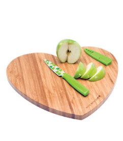 DCI Bamboo Heart Shaped Cutting Board
