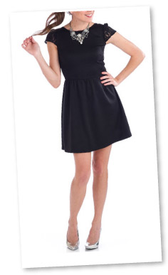 Penny Chic by Shauna Miller Skater Little Black Dress