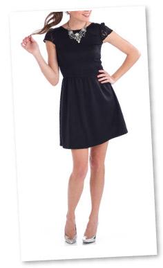 Penny Chic by Shauna Miller Skater Little Black Dress