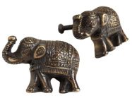 World Market Antique Brass Elephant Knobs