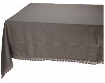 Dentelliere Taupe Rectangular Tablecloth