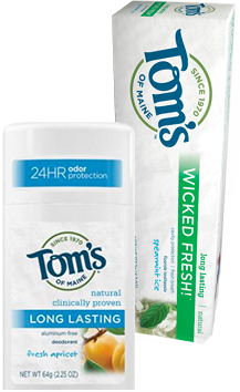 Tom's of Maine Deodorant and Toothpaste