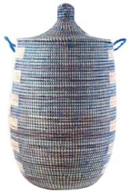 Hand-Woven African Basket Hamper