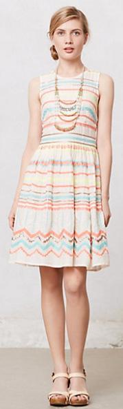 Sunglow Stripes Dress