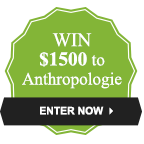 Win $1500 to Anthropologie!