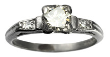 Erie Basin 1930s Art Deco Diamond Ring