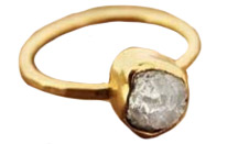 Melissa Joy Manning Raw Diamond Nugget Ring