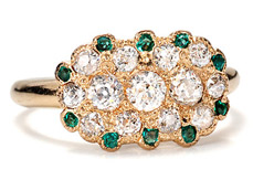 The Three Graces Art Deco Envy: Emerald Diamond Ring