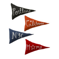Schoolhouse Home Team Pennant Pillows