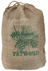 Fatwood, in Burlap Sack