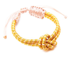 Sequence Gold Knot Bracelet