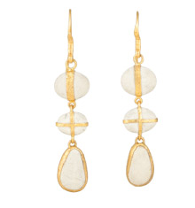Lou Zeldis pebble drop earrings