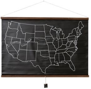 America Chalkboard Map