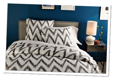 West Elm Organic Chevron Duvet