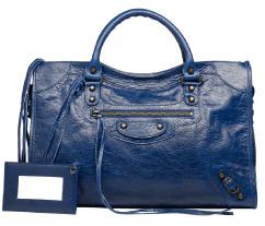 Balenciaga Classic City Bag in Bleu Mineral