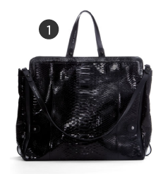 Dax Gabler Python Shoulder Bag