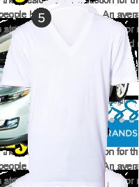 American Apparel White V-necks