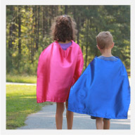 Superhero Cape and matching Mask Set