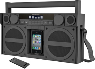 iHome Portable FM Stereo Boombox for iPhone/iPod