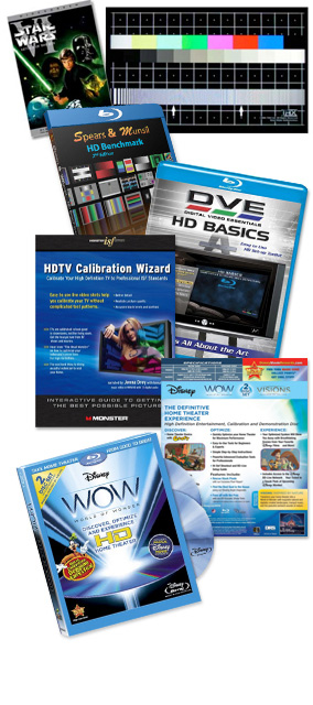 Calibrate with a dvd or blu-ray disc