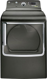GE Adora 7.8 cu. ft. Gas Dryer with Steam in Metallic Carbon