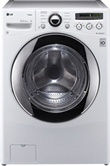 LG SteamWasher 36 Cu Ft 9-Cycle High-Efficiency Steam Front-Loading Washer - White